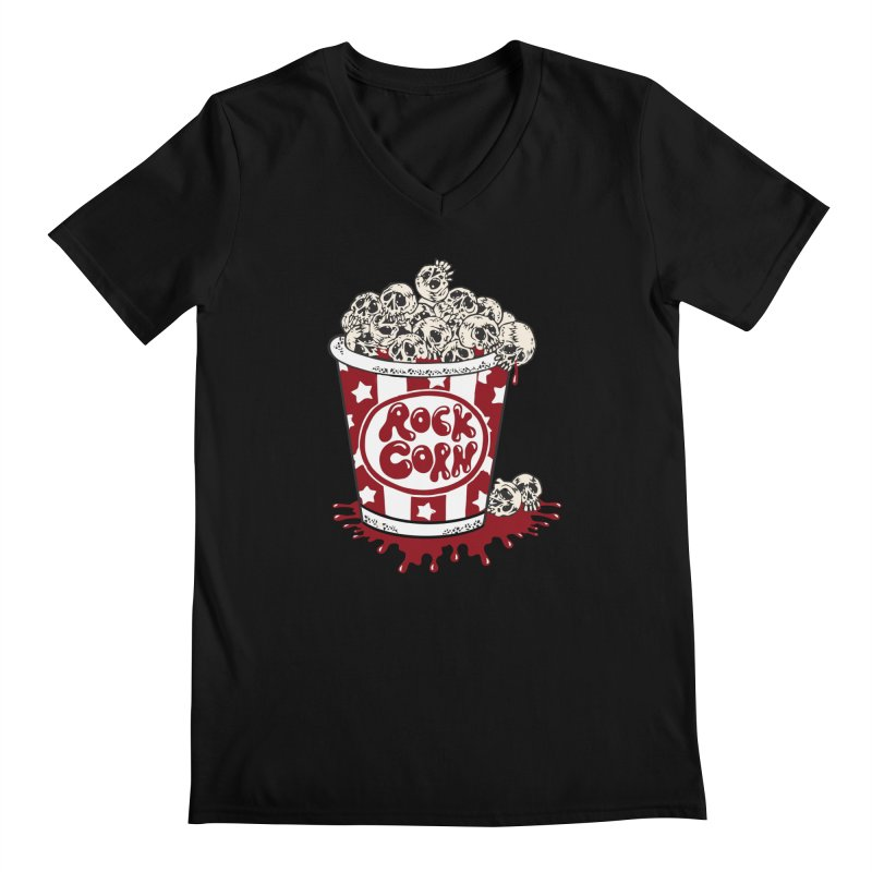 Rock Corn Men's V-Neck by Toxic Onion - Weird and Funny Stuff