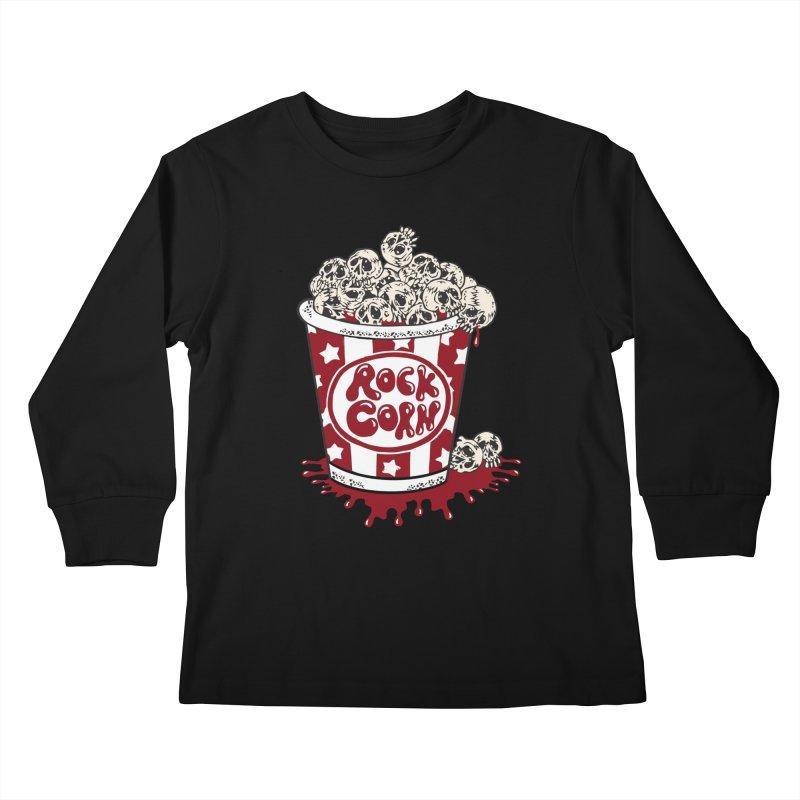 Rock Corn Kids Longsleeve T-Shirt by Toxic Onion