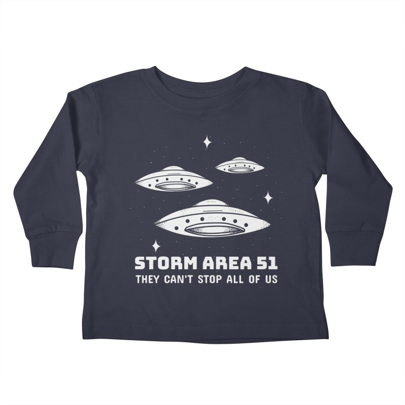 Storm Area 51 Kids Toddler Longsleeve T-Shirt by Toxic Onion