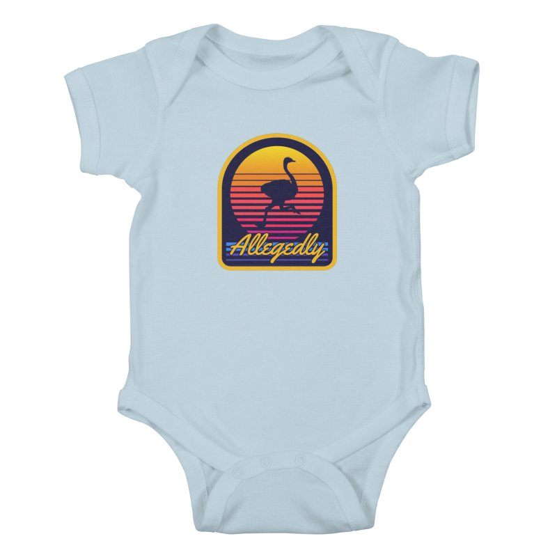 Allegedly Ostrich Kids Baby Bodysuit by Toxic Onion