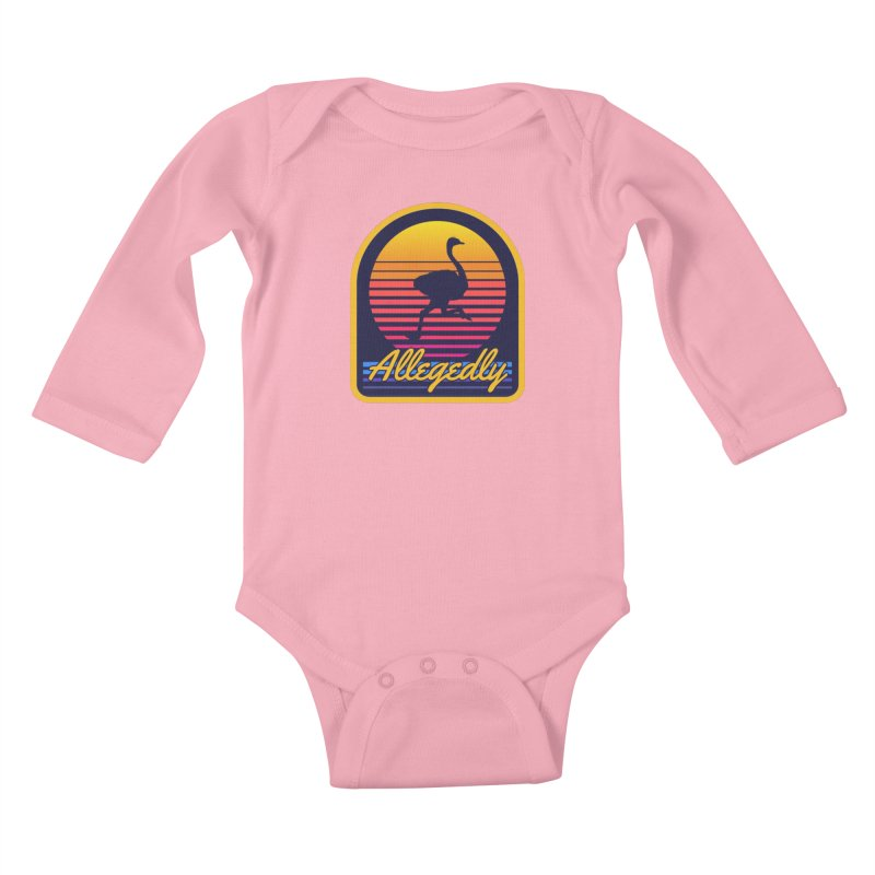 Allegedly Ostrich Kids Baby Longsleeve Bodysuit by Toxic Onion