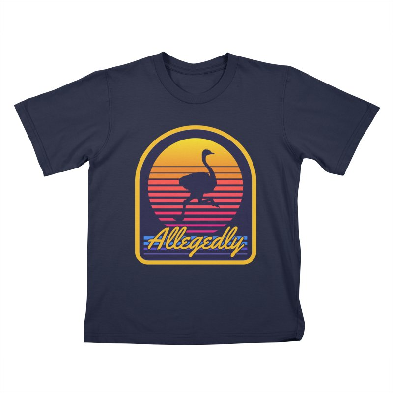 Allegedly Ostrich Kids T-Shirt by Toxic Onion