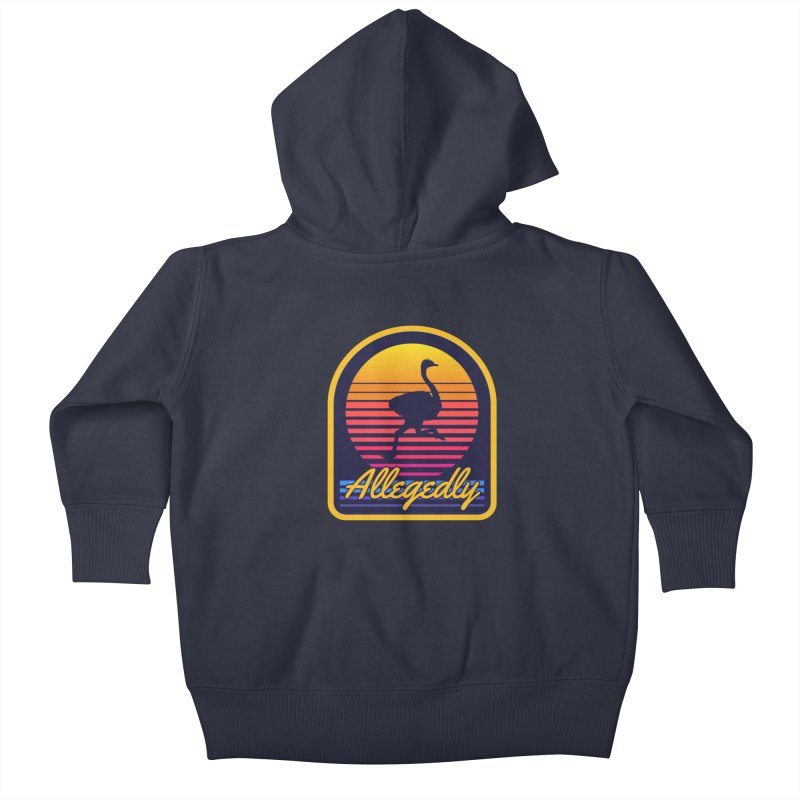 Allegedly Ostrich Kids Baby Zip-Up Hoody by Toxic Onion