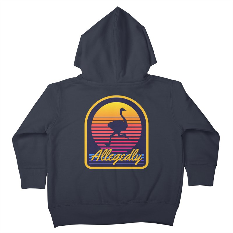 Allegedly Ostrich Kids Toddler Zip-Up Hoody by Toxic Onion