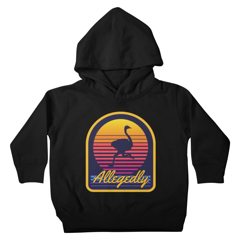 Allegedly Ostrich Kids Toddler Pullover Hoody by Toxic Onion