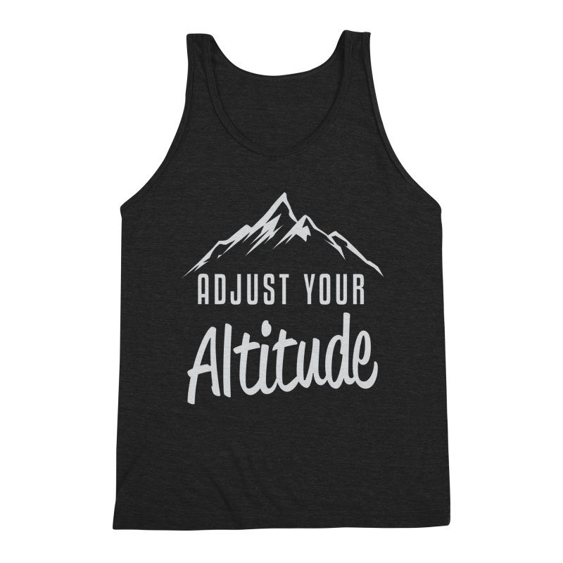Adjust Your Altitude Men's Triblend Tank by Toxic Onion