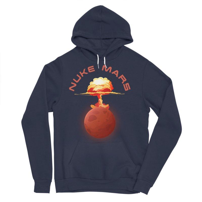 Nuke Mars Men's Sponge Fleece Pullover Hoody by Toxic Onion