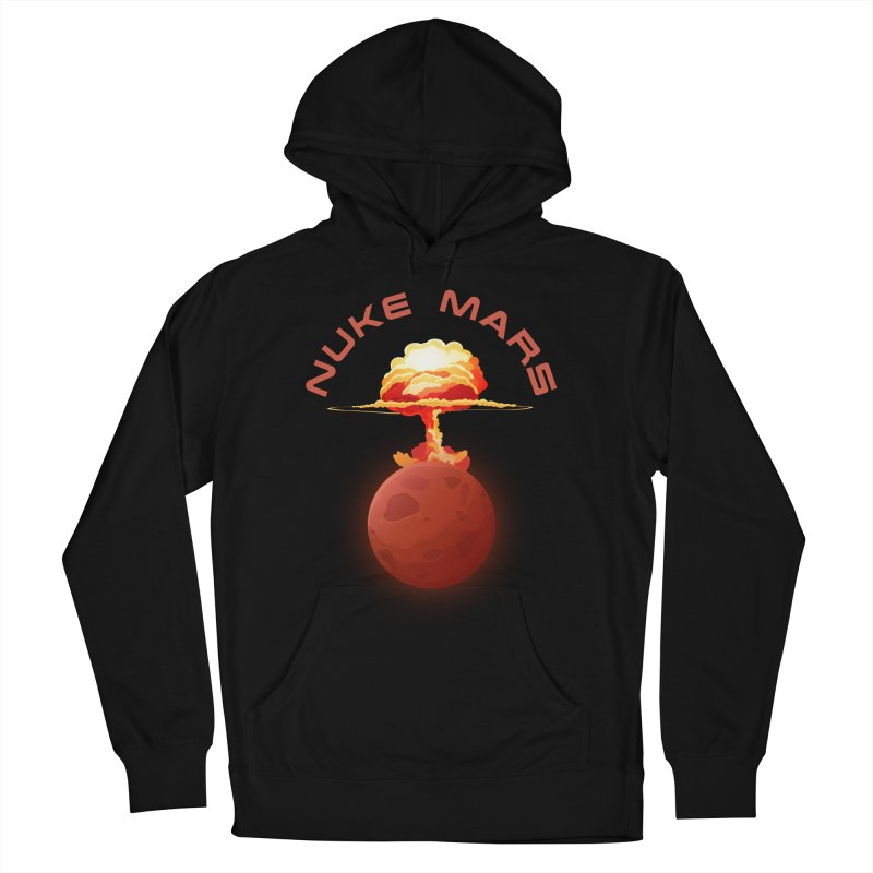 Nuke Mars Men's French Terry Pullover Hoody by Toxic Onion