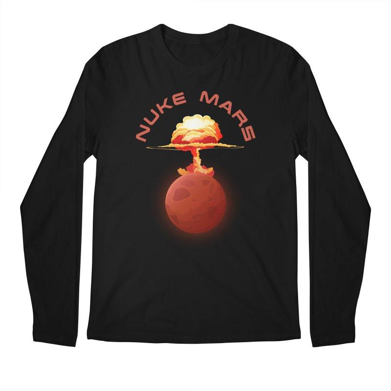 Nuke Mars Men's Regular Longsleeve T-Shirt by Toxic Onion