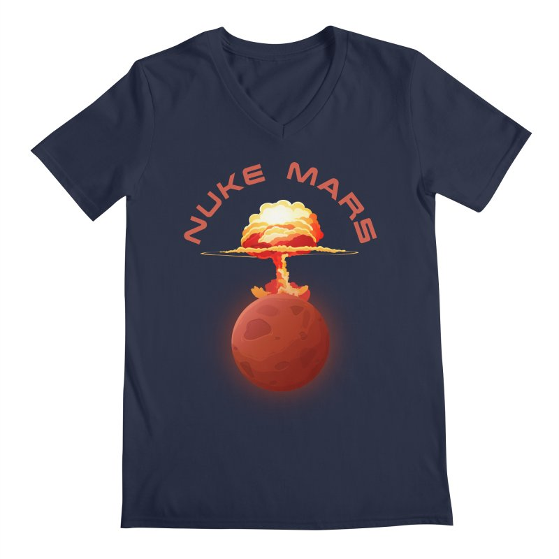Nuke Mars Men's Regular V-Neck by Toxic Onion