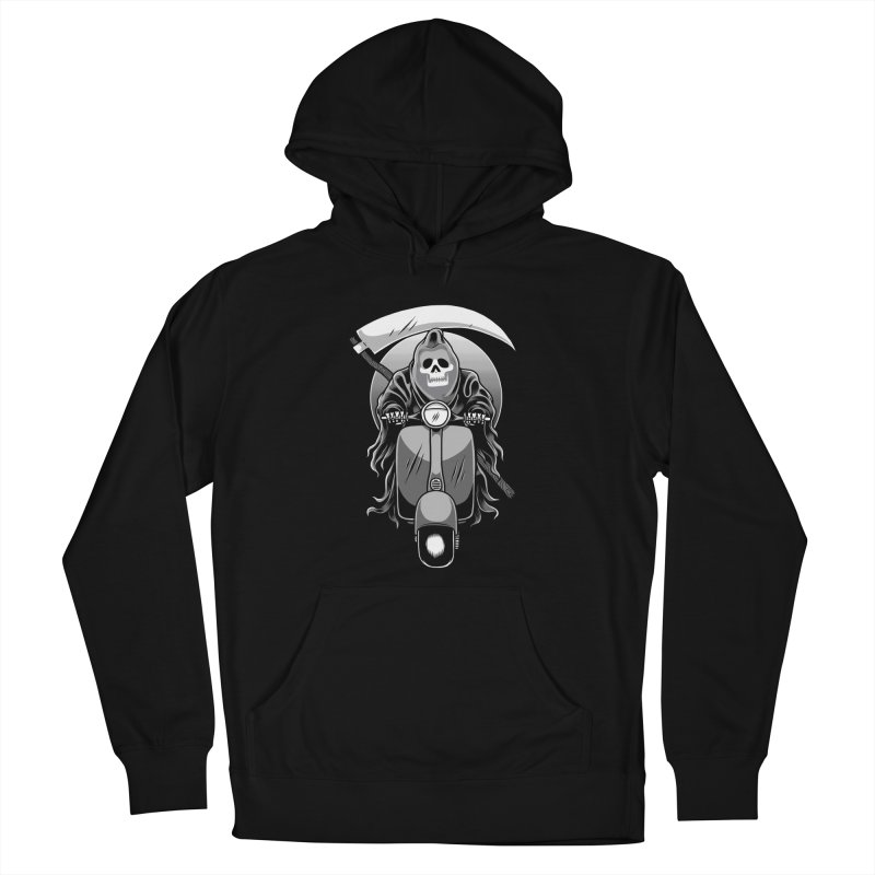 Scooter Reaper Women's French Terry Pullover Hoody by Toxic Onion