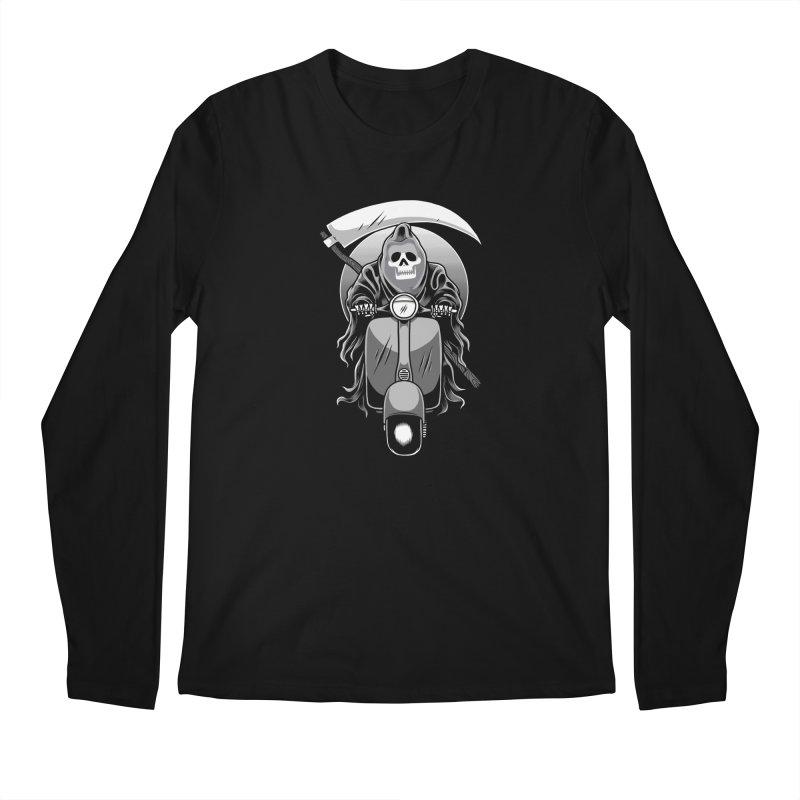Scooter Reaper Men's Regular Longsleeve T-Shirt by Toxic Onion