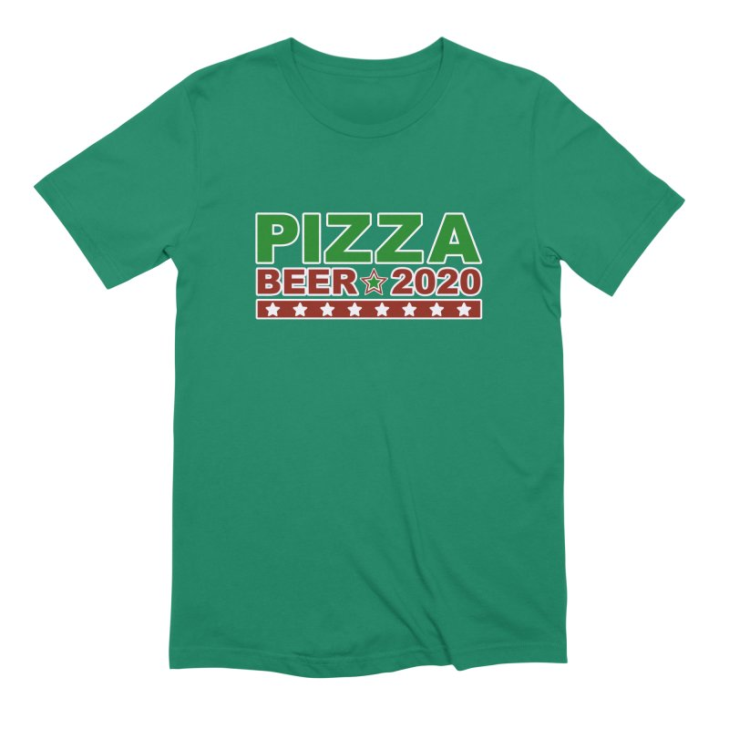 Pizza Beer 2020 Men's Extra Soft T-Shirt by Toxic Onion