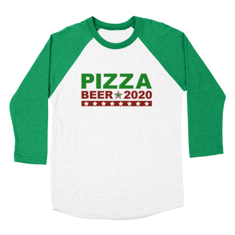 Pizza Beer 2020 Men's Baseball Triblend Longsleeve T-Shirt by Toxic Onion