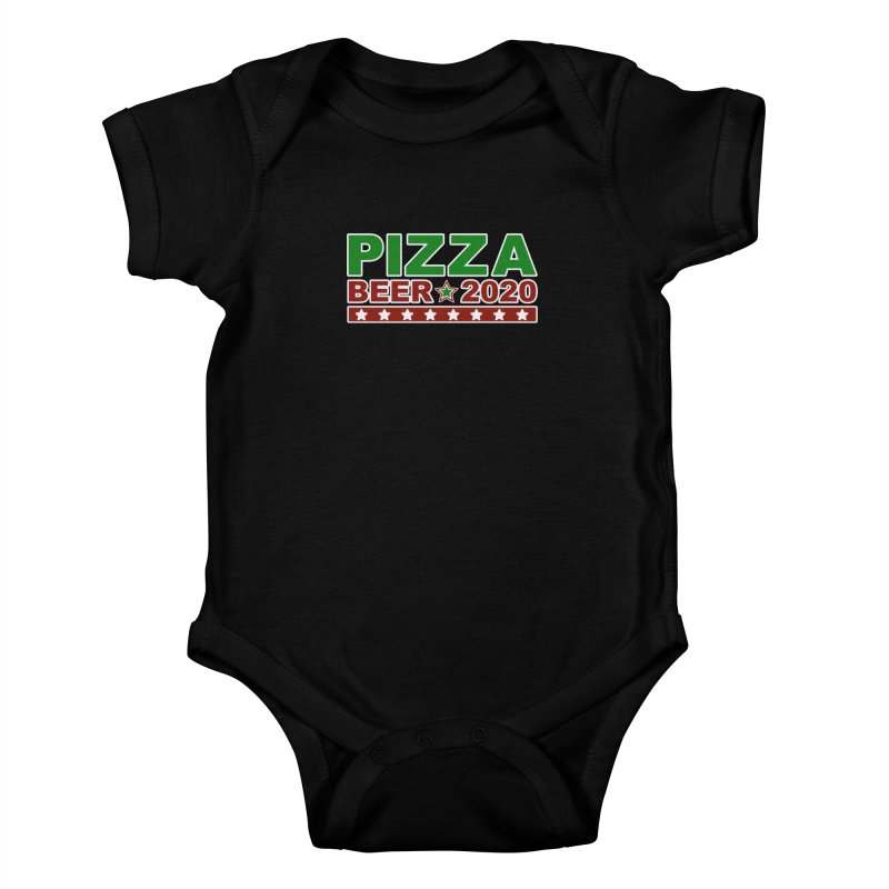 Pizza Beer 2020 Kids Baby Bodysuit by Toxic Onion