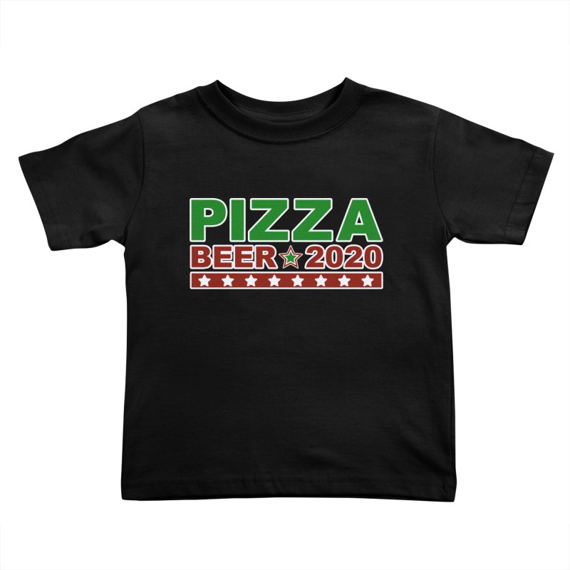 Pizza Beer 2020 Kids Toddler T-Shirt by Toxic Onion
