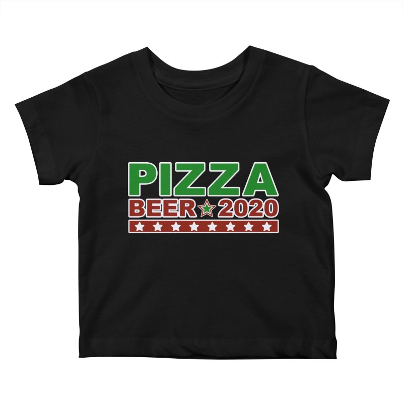 Pizza Beer 2020 Kids Baby T-Shirt by Toxic Onion