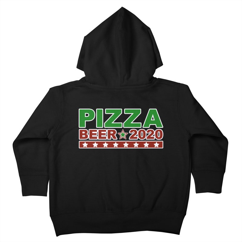 Pizza Beer 2020 Kids Toddler Zip-Up Hoody by Toxic Onion