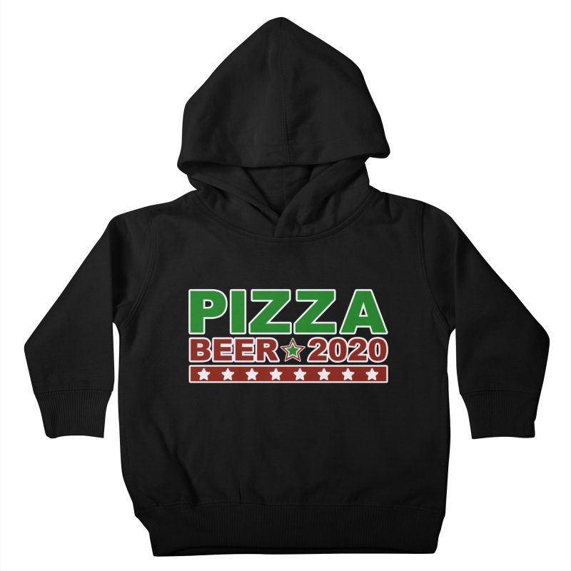 Pizza Beer 2020 Kids Toddler Pullover Hoody by Toxic Onion