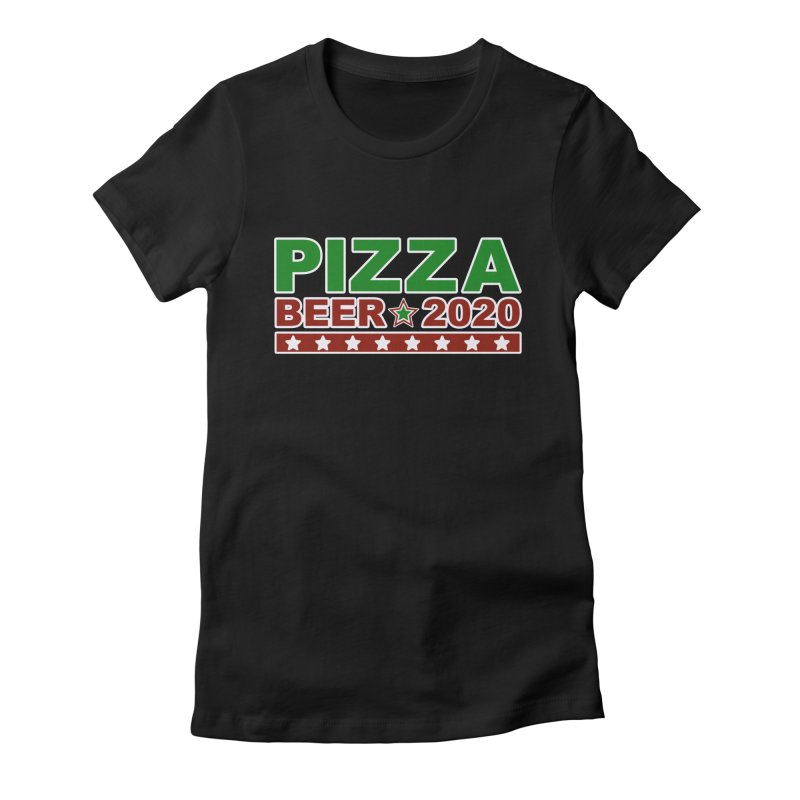 Pizza Beer 2020 Women's Fitted T-Shirt by Toxic Onion