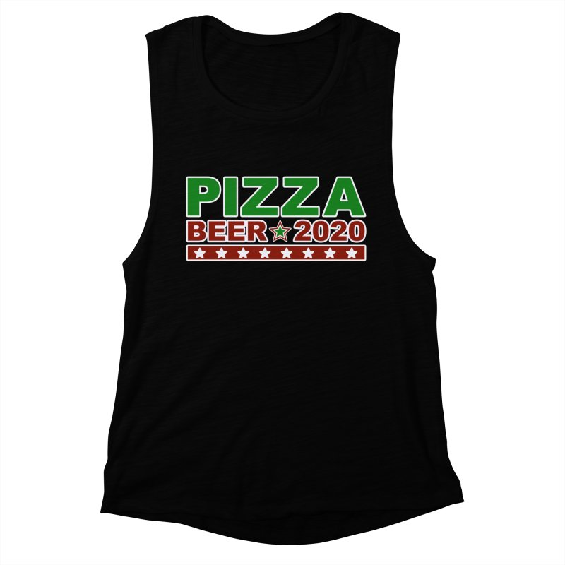Pizza Beer 2020 Women's Muscle Tank by Toxic Onion