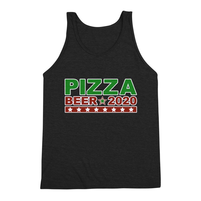 Pizza Beer 2020 Men's Triblend Tank by Toxic Onion
