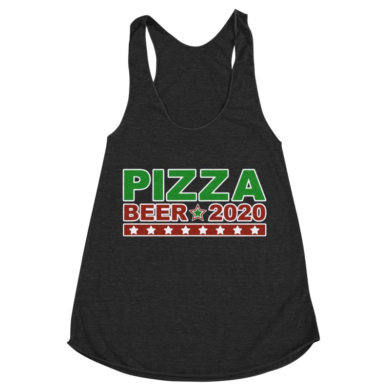 Pizza Beer 2020 Women's Racerback Triblend Tank by Toxic Onion