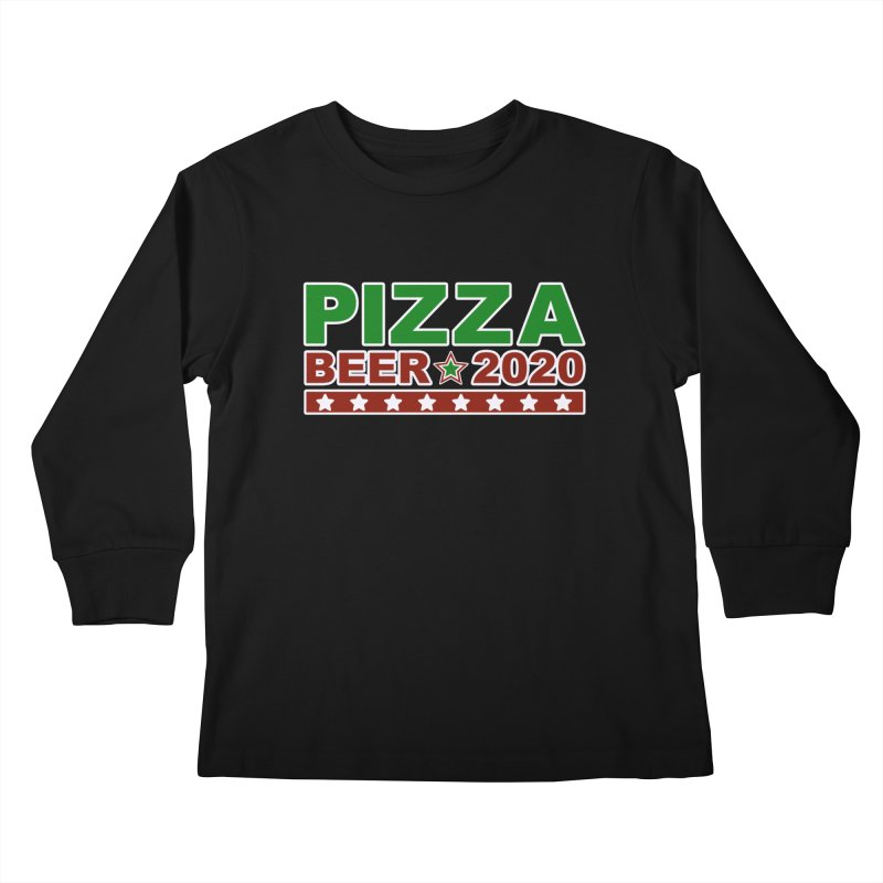 Pizza Beer 2020 Kids Longsleeve T-Shirt by Toxic Onion
