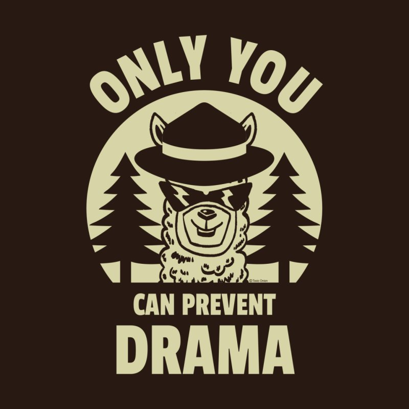 Only You Can Prevent Drama Women's T-Shirt by Toxic Onion - Weird and Funny Stuff
