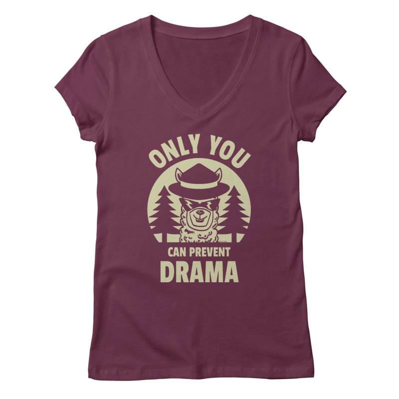 Only You Can Prevent Drama Women's Regular V-Neck by Toxic Onion