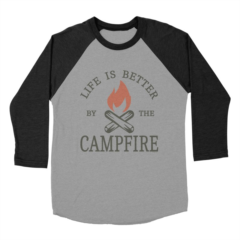 Life Is Better By The Campfore Men's Baseball Triblend Longsleeve T-Shirt by Toxic Onion