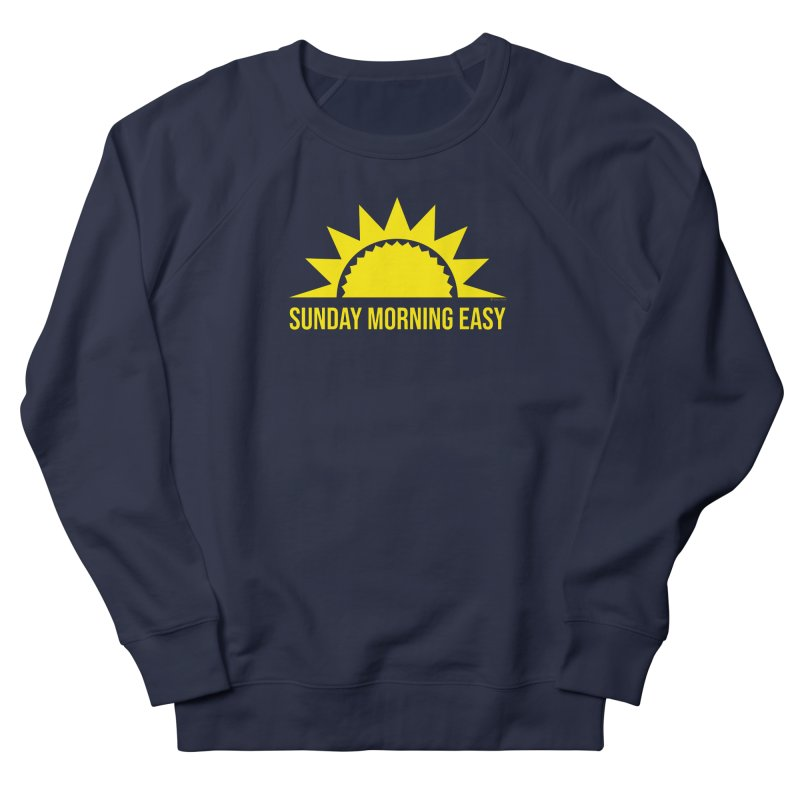 Sunday Morning Easy Men's French Terry Sweatshirt by Toxic Onion