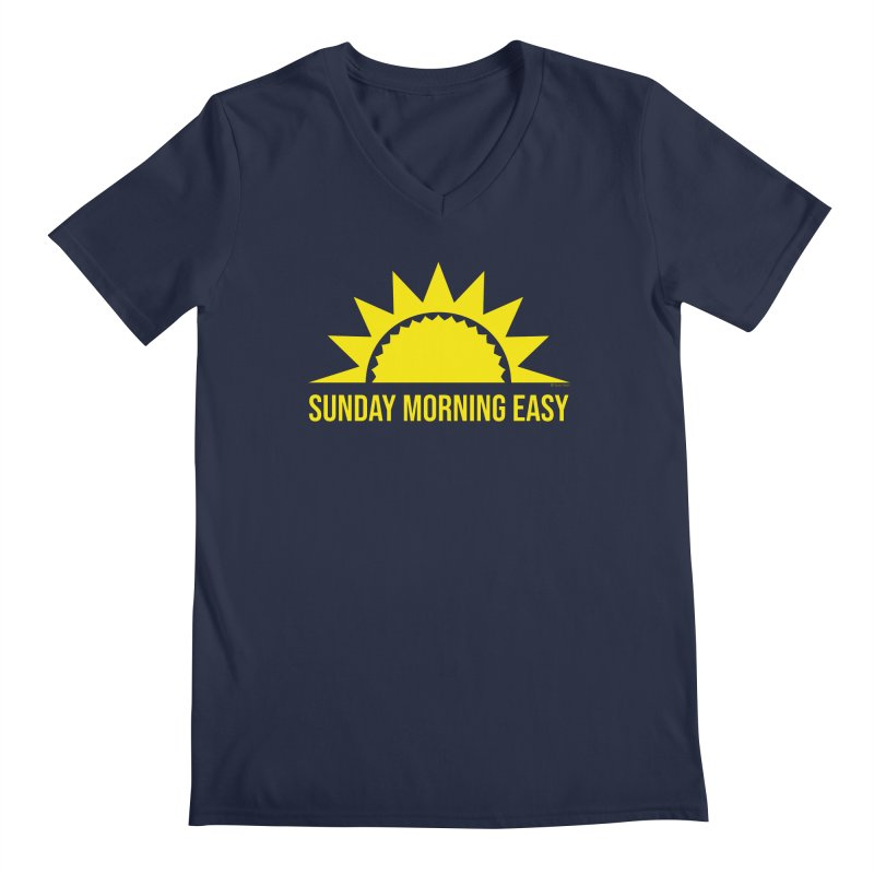 Sunday Morning Easy Men's Regular V-Neck by Toxic Onion