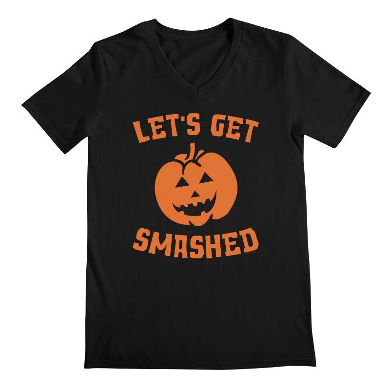 Let's Get Smashed Men's Regular V-Neck by Toxic Onion