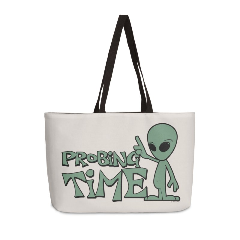 Probing Time Accessories Weekender Bag Bag by Toxic Onion