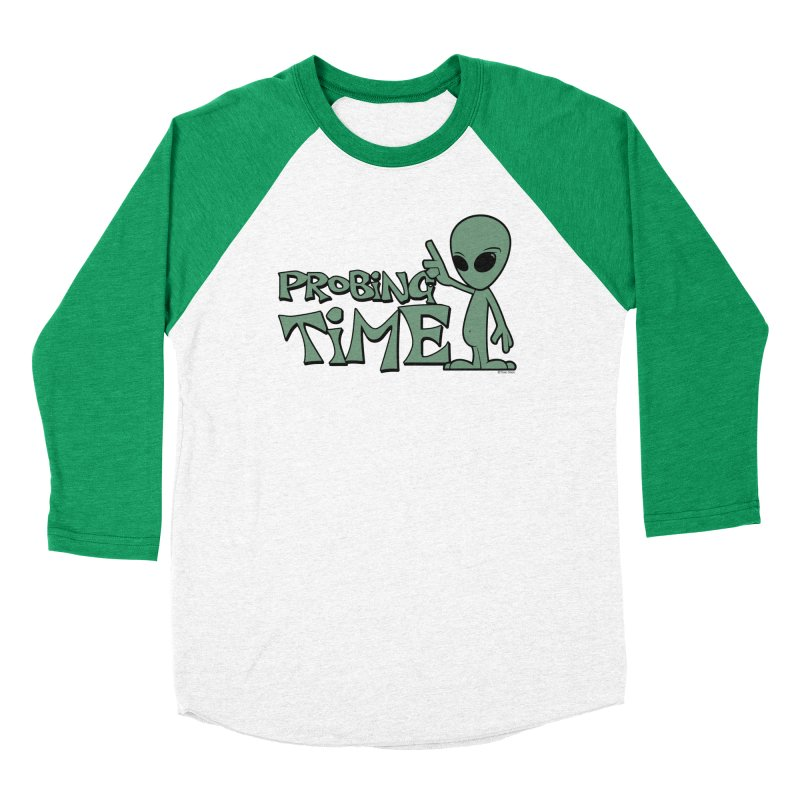 Probing Time Men's Baseball Triblend Longsleeve T-Shirt by Toxic Onion