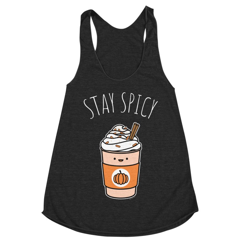 Stay Spicy Women's Racerback Triblend Tank by Toxic Onion