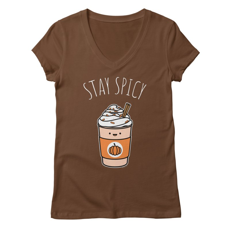 Stay Spicy Women's Regular V-Neck by Toxic Onion