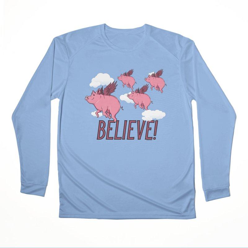 Believe Men's Performance Longsleeve T-Shirt by Toxic Onion