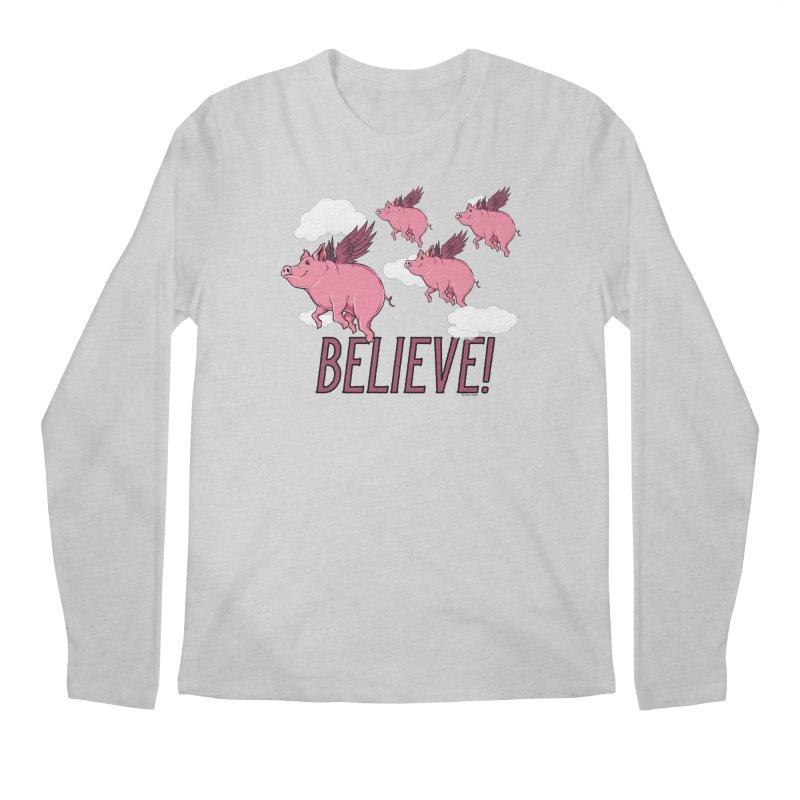 Believe Men's Regular Longsleeve T-Shirt by Toxic Onion