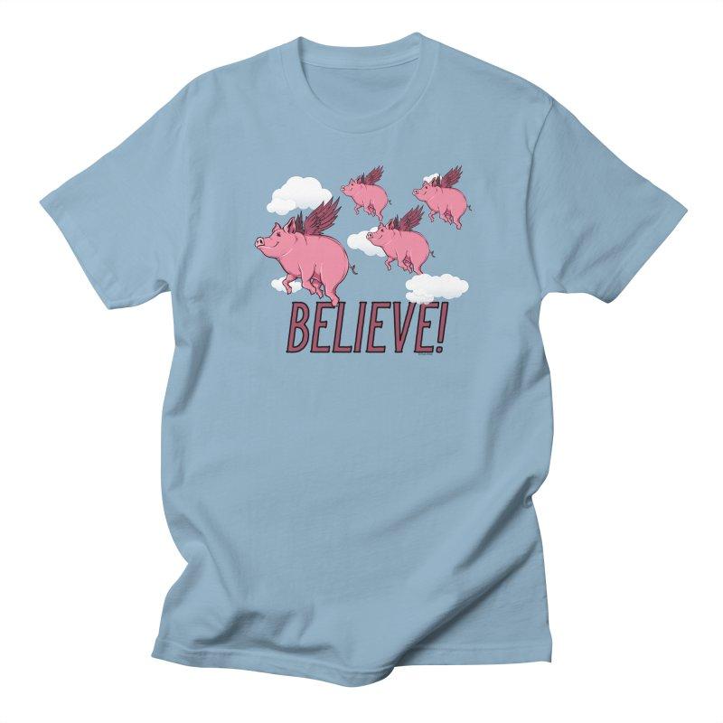 Believe Men's Regular T-Shirt by Toxic Onion