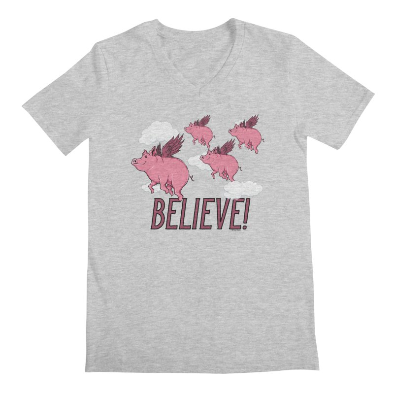 Believe Men's Regular V-Neck by Toxic Onion