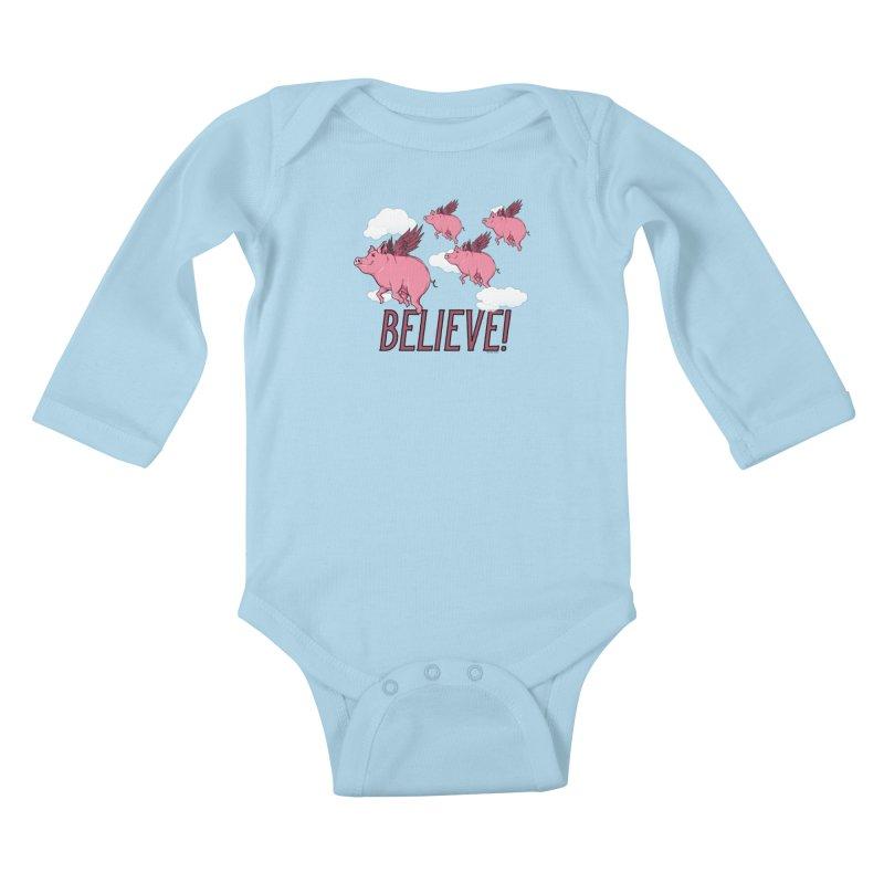 Believe Kids Baby Longsleeve Bodysuit by Toxic Onion