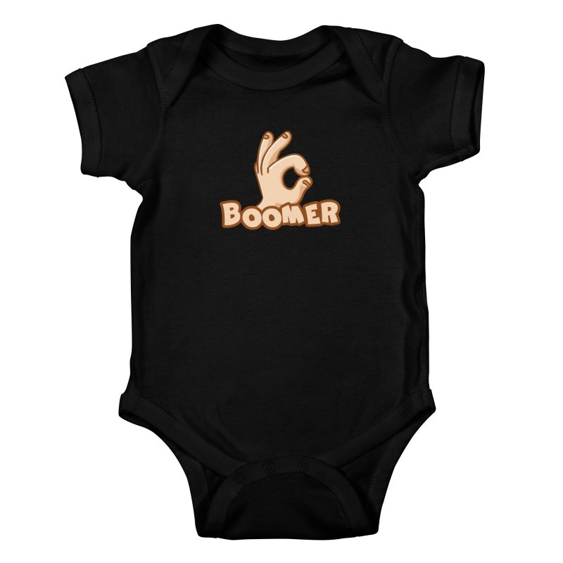 OK Boomer Kids Baby Bodysuit by Toxic Onion