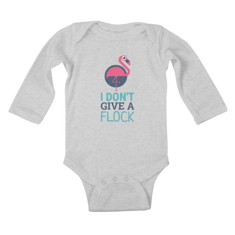 I Don't Give A Flock Kids Baby Longsleeve Bodysuit by Toxic Onion