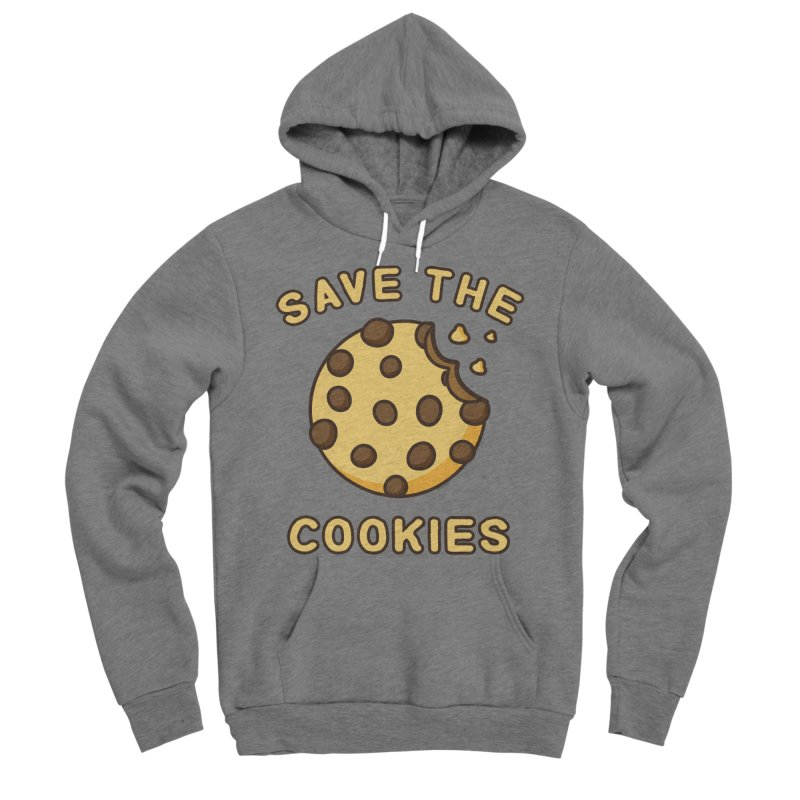 Save The Cookies Men's Sponge Fleece Pullover Hoody by Toxic Onion