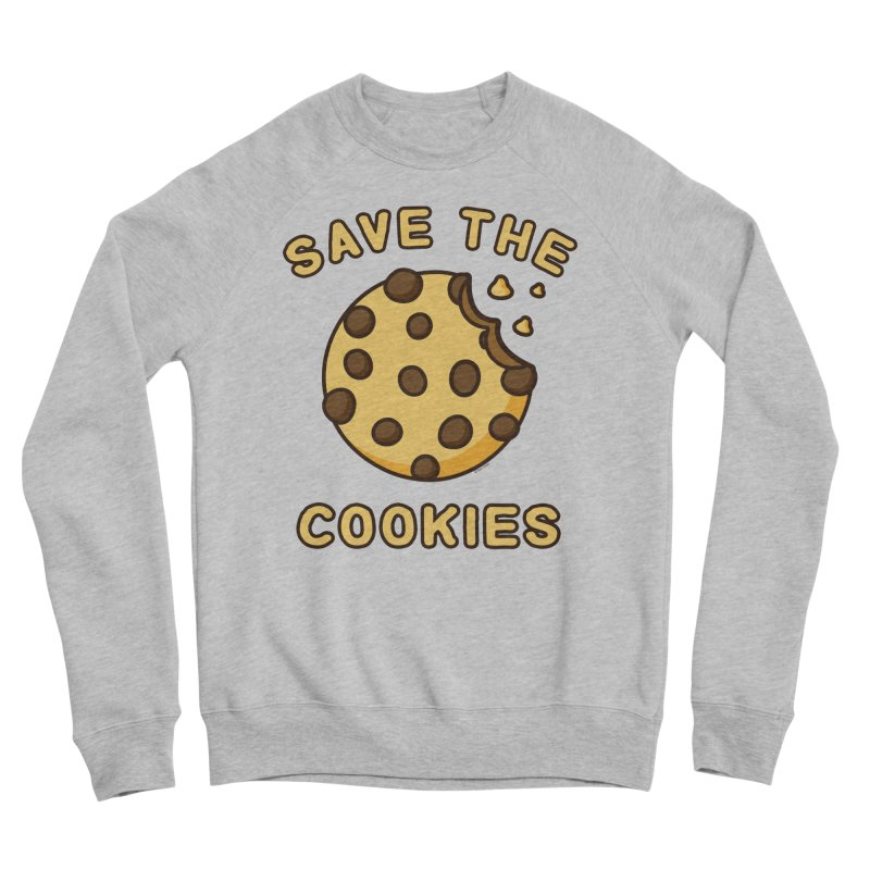 Save The Cookies Men's Sponge Fleece Sweatshirt by Toxic Onion