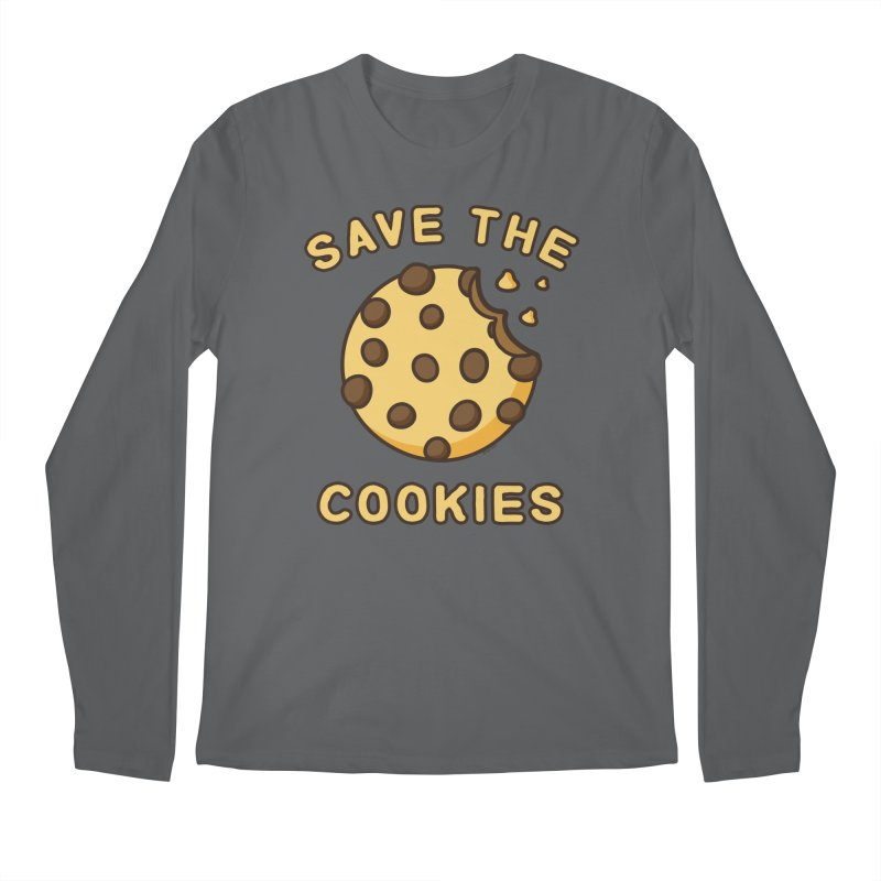 Save The Cookies Men's Regular Longsleeve T-Shirt by Toxic Onion