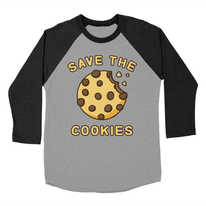 Save The Cookies Women's Baseball Triblend Longsleeve T-Shirt by Toxic Onion