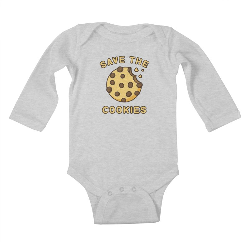 Save The Cookies Kids Baby Longsleeve Bodysuit by Toxic Onion